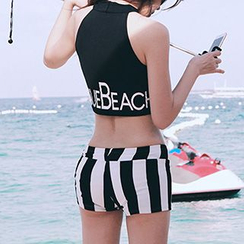 DJ Design - Lettering Striped Tankini