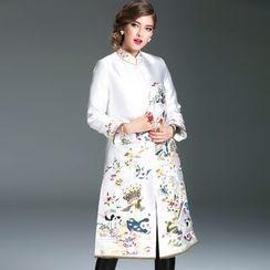 Elabo - Embroidered Long Jacket