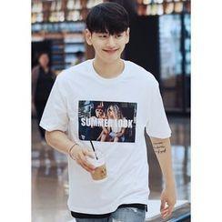 JOGUNSHOP - Short-Sleeve Printed T-Shirt