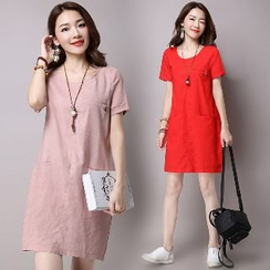 Splashmix - Short-Sleeve Shift Dress