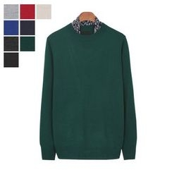 DANGOON - Crew-Neck Colored Sweater