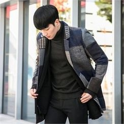 STYLEMAN - Wool-Blend Patterned Coat