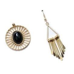 Ashita - Non-Matching Gemstone Fringed Earrings