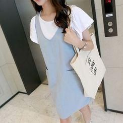 CLICK - Linen Blend Sleeveless Dress