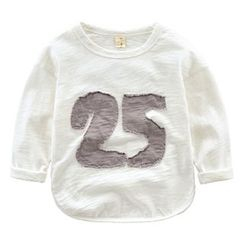 Kido - 小童长袖数字T恤