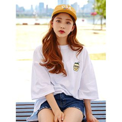 icecream12 - Embroidered Oversized T-Shirt