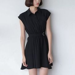 Sens Collection - Sleeveless Collared Dress