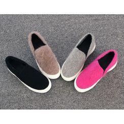 DANI LOVE - Furry Platform Slip-Ons