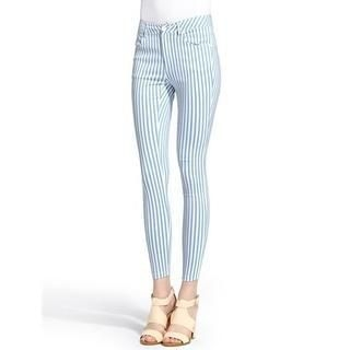 Moonbasa - Striped Cropped Skinny Pants
