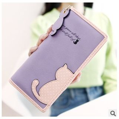 Rinka Doll - Cat Appliqué Long Wallet