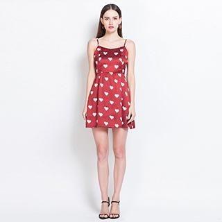YiGelila - Sleeveless Heart-Print Dress