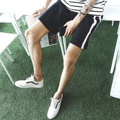 Mr. Cai - Contrast-Stripe Shorts