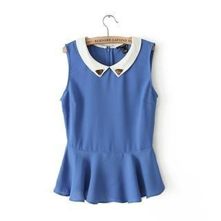 JVL - Metal-Tip Sleeveless Blouse