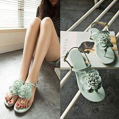 CITTA - Floral Flat Sandals