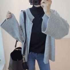 STYLEBYYAM - Two-Way Wide-Sleeve Knit Top