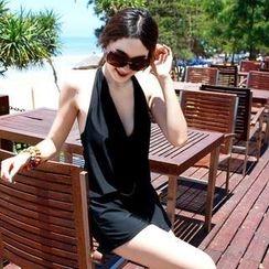 Rachel Swimwear - Set: Bikini + Cowl-Neck Playsuit