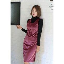 migunstyle - Sleeveless Velvet Dress