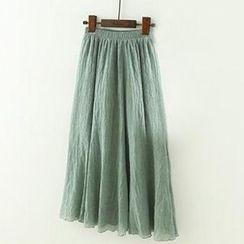 Meimei - Pleated Maxi Skirt