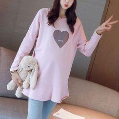 Bera Bera - Heart Print Fleece-Lined Tunic