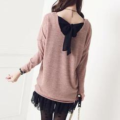Stylementor - Tie-Back Knit Sweater