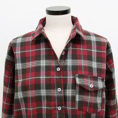 NANING9 - Cotton Check Shirt