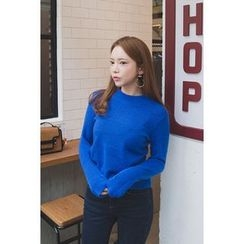migunstyle - Round-Neck Knit Top
