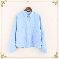 Fairyland - Pocket Long-Sleeve Blouse