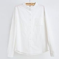 Jill & Jane - Long-Sleeve Plain Blouse