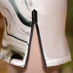 四小姐旗袍 - 短袖碎花中式旗袍