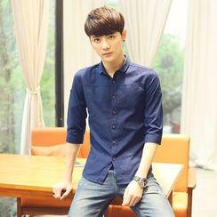 Bloemen - 3/4-Sleeve Linen Shirt