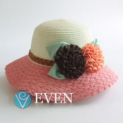 EVEN - 飾花草帽