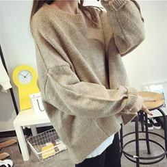 FR - Drop-shoulder Oversized Sweater