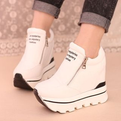 IYATO - Platform Hidden-Heel Zipped Sneakers