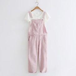 PP家 - 纯色灯芯绒背带裤