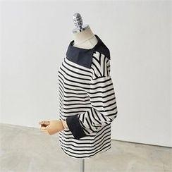 PEPER - Drop-Shoulder Striped T-Shirt