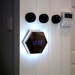 Cloud Forest - Mirror Digital Clock