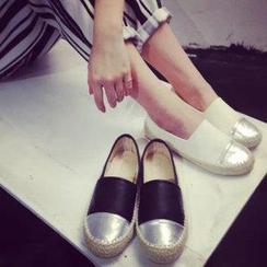 BAYO - 金屬拼接麻底便鞋