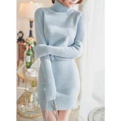 伊之戀 - 樽領毛衣裙