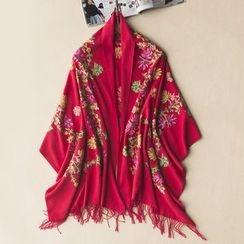 Digesida - Embroidery Flower Scarf
