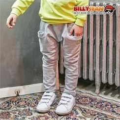 BILLY JEAN - Kids Lettering-Patch Baggy-Fit Pants
