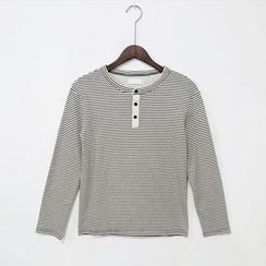Mr. Cai - Long-Sleeve Striped T-Shirt