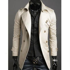 Free Shop - Double-Buttoned Trench Coat