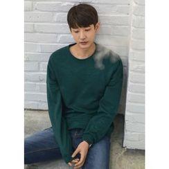 GERIO - Round-Neck Colored Pullover