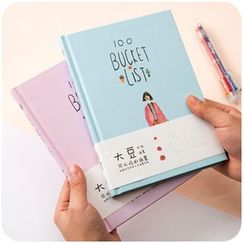 Momoi - Set: Bucket List Notebook + Multicolor Pen + Ruler + Masking Tape
