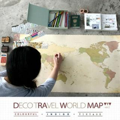 iswas - Set: World Map + PVC Map + Stickers