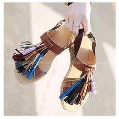 BAYO - Tassel Flat Sandals