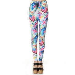 59 Seconds - United State Flag-Print Leggings