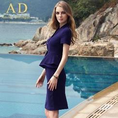 艾尚臣 - 套裝: 荷葉邊夾克 + 鉛筆裙