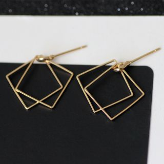 HEDGY - Double Square Earrings