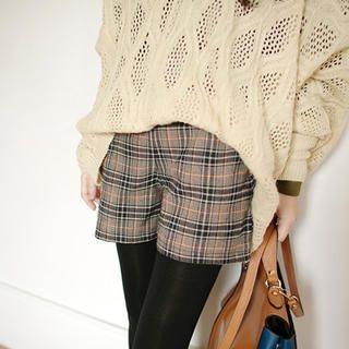 Tokyo Fashion - Elastic-Waist Plaid Shorts